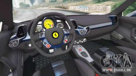 GTA 5 Ferrari 458 Italia v1.0.5 hinten rechts