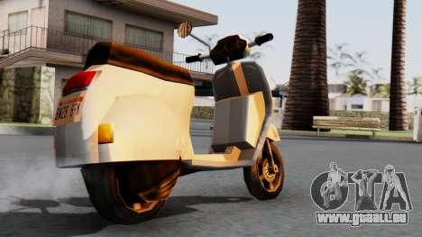 New Faggio pour GTA San Andreas laissé vue