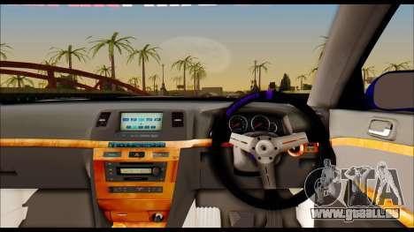 Toyota Mark 2 100 pour GTA San Andreas sur la vue arrière gauche