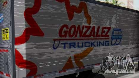 International ProStar Trailer für GTA San Andreas zurück linke Ansicht
