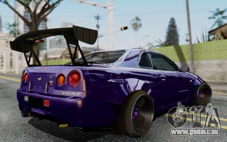 Nissan Skyline GT-R R34 Battle Machine für GTA San Andreas linke Ansicht