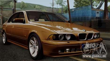 BMW 530D E39 2001 Stock pour GTA San Andreas