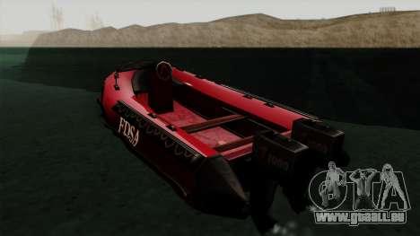 FDSA Dinghy für GTA San Andreas linke Ansicht