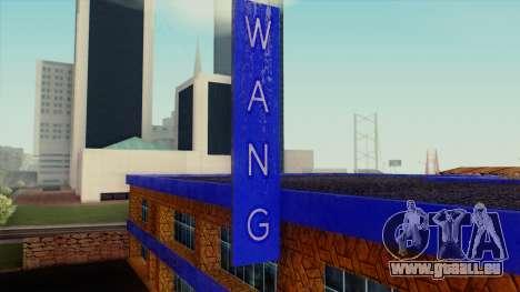 Le Wang Voitures Showroom pour GTA San Andreas troisième écran