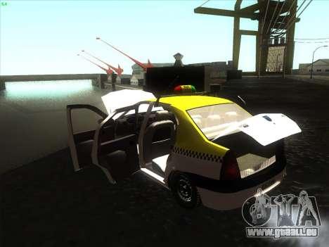 Dacia Logan Taxi UNIVIP für GTA San Andreas rechten Ansicht
