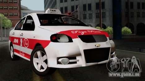 Chevrolet Aveo Taxi Poza Rica für GTA San Andreas