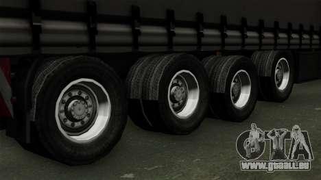Trailer Krone Profiliner v4 für GTA San Andreas zurück linke Ansicht