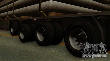 Flatbed3 Grey pour GTA San Andreas sur la vue arrière gauche