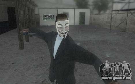 DayZ Mask pour GTA San Andreas quatrième écran