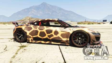 GTA 5 Dinka Jester (Racecar) Cheetah vue latérale gauche