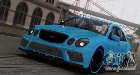 Mercedes-Benz E63 Qart Tuning pour GTA San Andreas salon