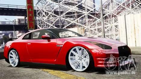 Nissan GT-R AMS 2012 pour GTA 4 Vue arrière