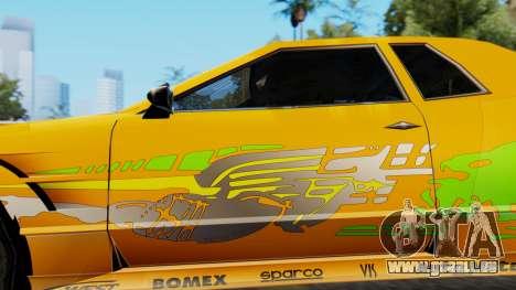 Elegy Supra PJ pour GTA San Andreas sur la vue arrière gauche