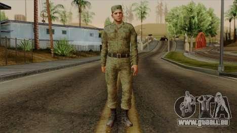 L'ordinaire de la russie moderne de l'armée pour GTA San Andreas deuxième écran
