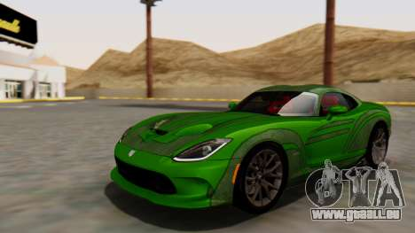 Dodge Viper SRT GTS 2013 HQLM (MQ PJ) für GTA San Andreas Rückansicht