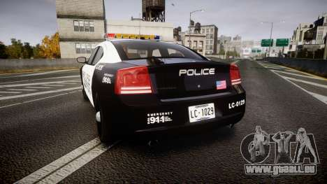 Dodge Charger Police Liberty City [ELS] für GTA 4 hinten links Ansicht