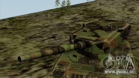Leopard 2A4 für GTA San Andreas Rückansicht