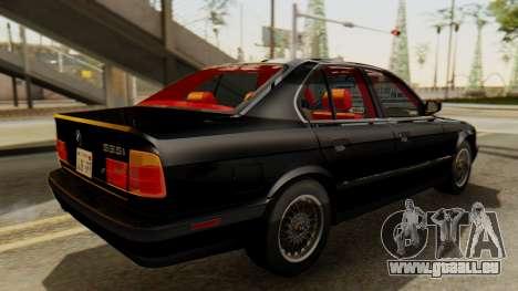 BMW 535i E34 1993 pour GTA San Andreas sur la vue arrière gauche
