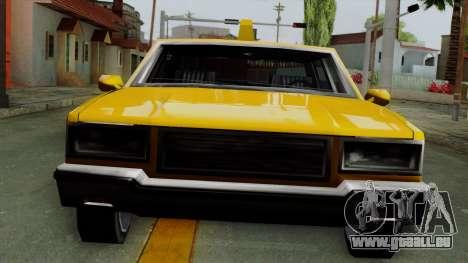 Classic Taxi Los Santos für GTA San Andreas zurück linke Ansicht