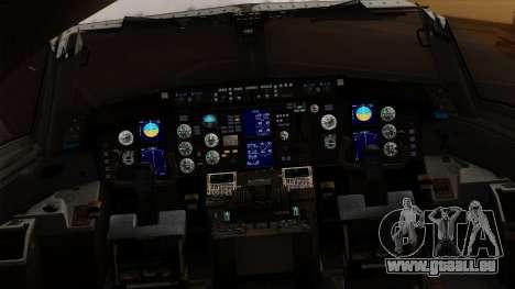 Boeing C-32 Air Force Two für GTA San Andreas Rückansicht