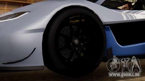 Progen T20 GTR pour GTA San Andreas sur la vue arrière gauche
