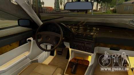BMW 535i E34 1993 pour GTA San Andreas vue arrière