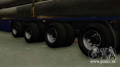 Flatbed3 Blue pour GTA San Andreas sur la vue arrière gauche