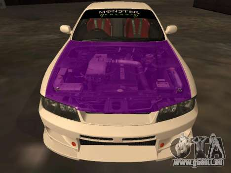 Nissan Skyline R33 Drift Monster Energy JDM pour GTA San Andreas vue de dessous