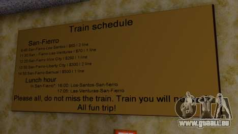 La gare de San Fierro Final pour GTA San Andreas cinquième écran