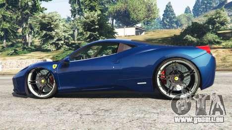 GTA 5 Ferrari 458 Italia v1.0.5 linke Seitenansicht