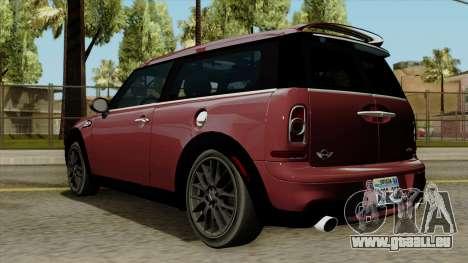 Mini Cooper Batik PaintJob pour GTA San Andreas laissé vue