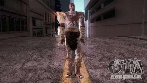 God Of War 3 Kratos Blood für GTA San Andreas zweiten Screenshot