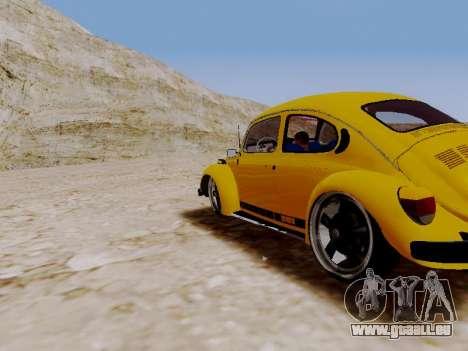 Volkswagen Beetle 1975 Jeans Edition Custom für GTA San Andreas zurück linke Ansicht