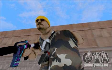 M4A1 Color pour GTA San Andreas quatrième écran