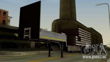 Flatbed3 Grey pour GTA San Andreas