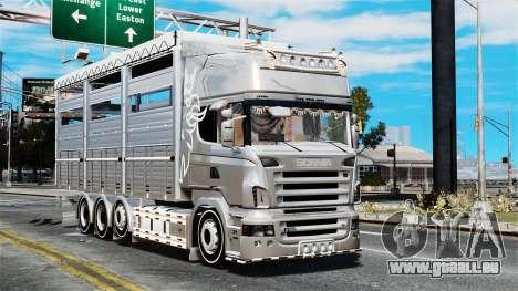 Scania R580 pour GTA 4 Vue arrière
