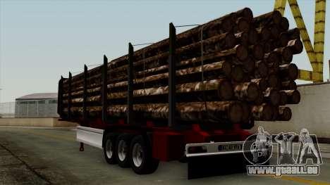 Trailer Fliegl v2 pour GTA San Andreas laissé vue