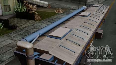 Trailer Silos für GTA San Andreas Rückansicht