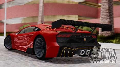 Pegassi Zentorno SM GT3 pour GTA San Andreas laissé vue