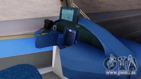 New Tram SF pour GTA San Andreas sur la vue arrière gauche