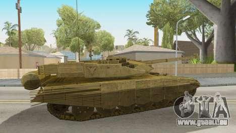 T-90MS CoD Ghost pour GTA San Andreas sur la vue arrière gauche