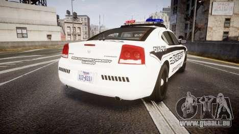 Dodge Charger 2010 New Alderney Sheriff [ELS] pour GTA 4 Vue arrière de la gauche