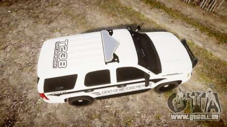 Chevrolet Tahoe 2013 New Alderney Sheriff [ELS] pour GTA 4 est un droit