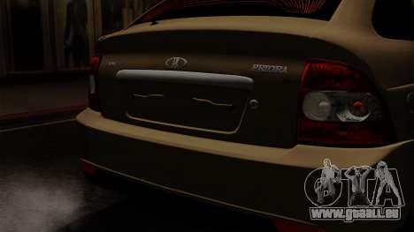 VAZ 2172 pour GTA San Andreas vue arrière