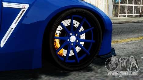 Nissan GT-R R35 Liberty Walk pour GTA 4 Vue arrière de la gauche