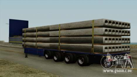 Flatbed3 Blue pour GTA San Andreas laissé vue