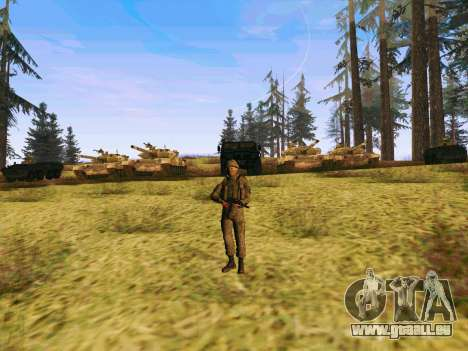 Pak-Kämpfer von speziellen Truppen von GRU für GTA San Andreas fünften Screenshot