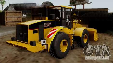 GTA 5 HVY Dozer pour GTA San Andreas laissé vue