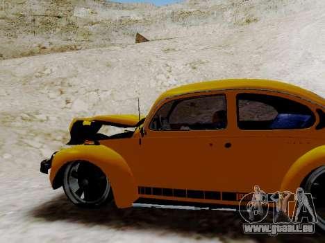 Volkswagen Beetle 1975 Jeans Édition Personnalis pour GTA San Andreas vue de dessous