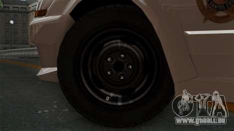 GTA 5 Sheriff Car pour GTA San Andreas sur la vue arrière gauche